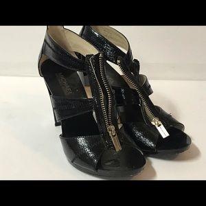 Michael Kor zip up strap heels size 7